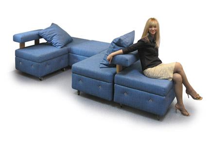 Пуфик, мягкое кресло, мягкий уголок, диван, кровать - трансформер Тетрис.
